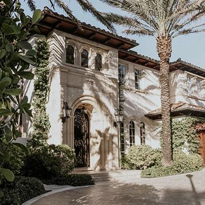 Luxury Mediterranean style home.