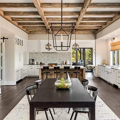 Remodeled home interior.